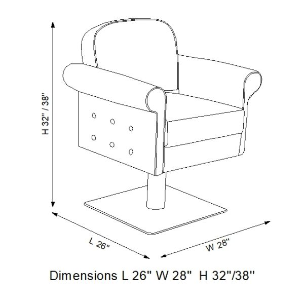 Line art of Solo Styling chair by Marc